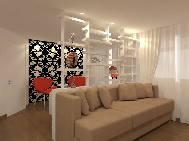 sala estar estante por Danielle David Arquitetura Moderno
