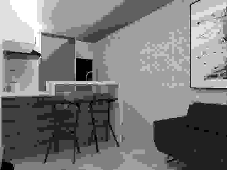 Remodelación Apartamento Agua Blanca. Valencia Marianny Velasquez arquitecto Cocinas de estilo moderno