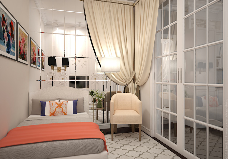 Eclectic style bedroom by «Студия 3.14» Eclectic