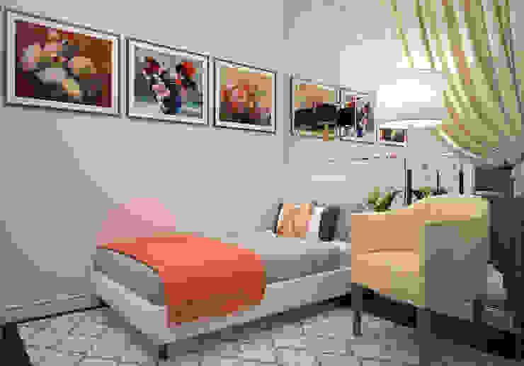 """Спальня. """"Американская классика"""" Спальня в эклектичном стиле от «Студия 3.14» Эклектичный"""