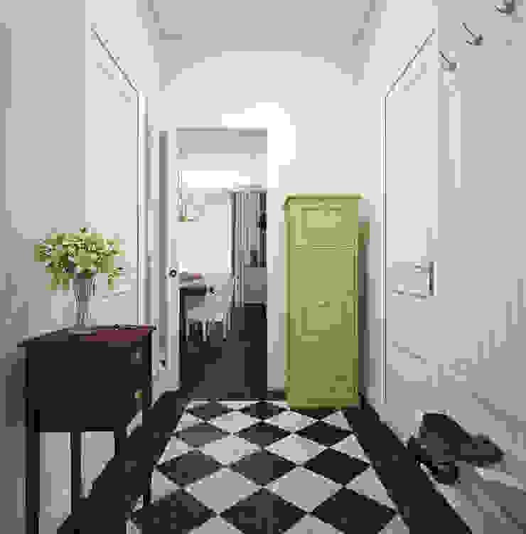 """Прихожая. """"Американская классика"""" Коридор, прихожая и лестница в эклектичном стиле от «Студия 3.14» Эклектичный"""