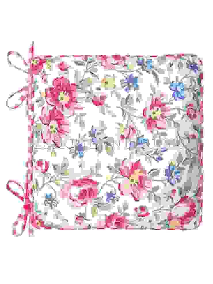 Подушка для стула GreenGate Pernilla White G003 от LeHome Interiors Классический Текстиль Янтарный / Золотой