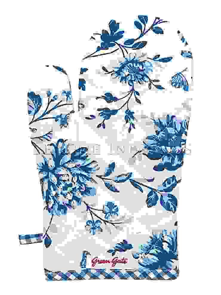 Варежка-прихватка для горячего GreenGate Penelope Blue G024 от LeHome Interiors Классический Текстиль Янтарный / Золотой