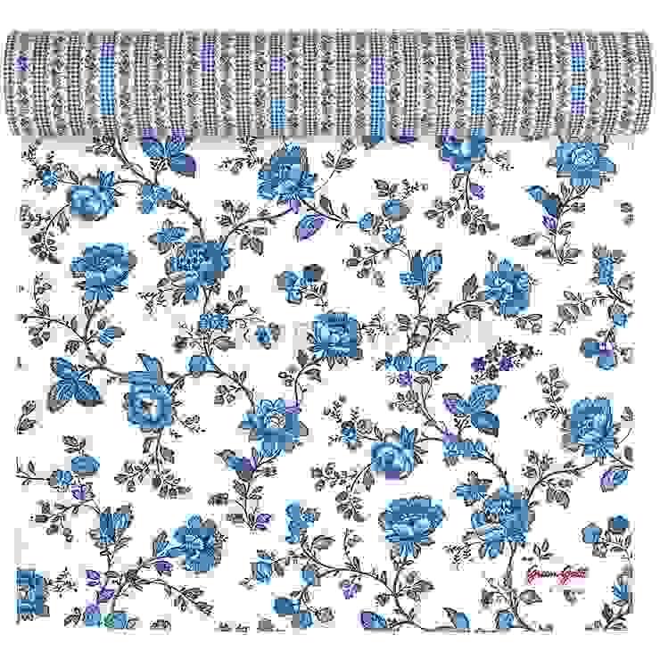 Скатерть-дорожка GreenGate Frida Indigo G056 от LeHome Interiors Классический Текстиль Янтарный / Золотой