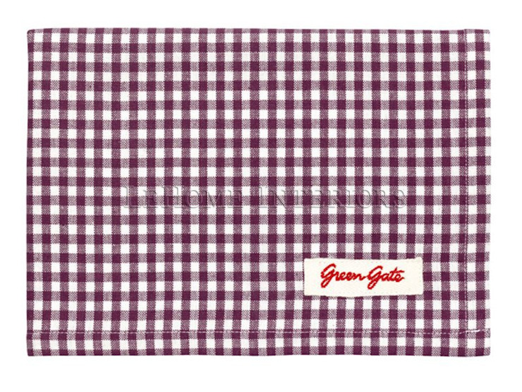Полотенце GreenGate Ida Plum G059 от LeHome Interiors Классический Текстиль Янтарный / Золотой