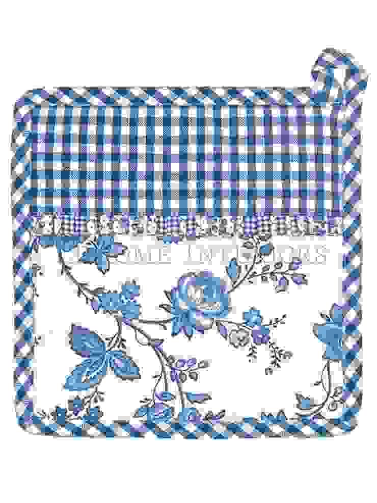 Прихватка (набор из двух штук) GreenGate Dicte Indigo G092 от LeHome Interiors Классический Текстиль Янтарный / Золотой