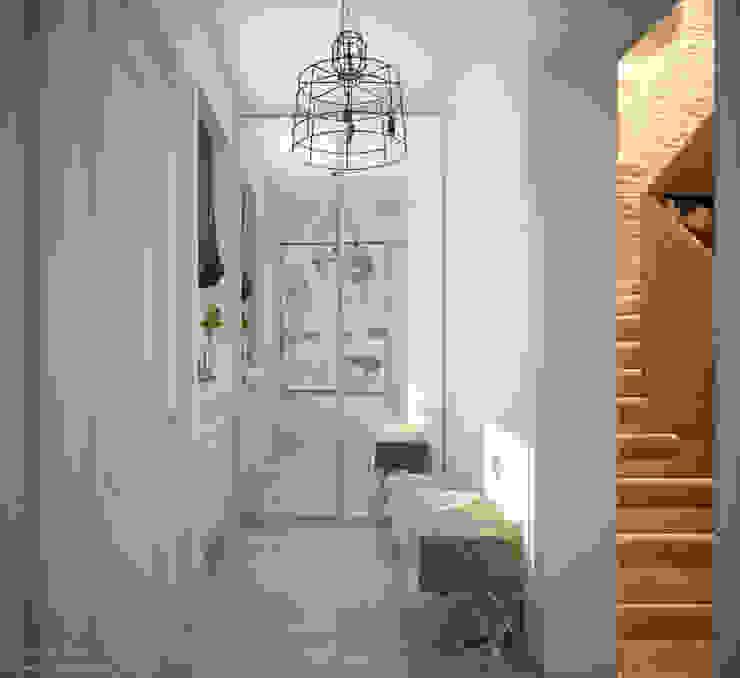 Modern corridor, hallway & stairs by Студия интерьерного дизайна happy.design Modern
