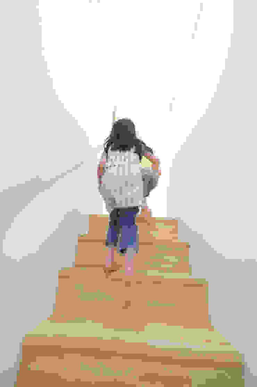 つどう×つながる家 モダンスタイルの 玄関&廊下&階段 の 加藤淳一級建築士事務所 モダン