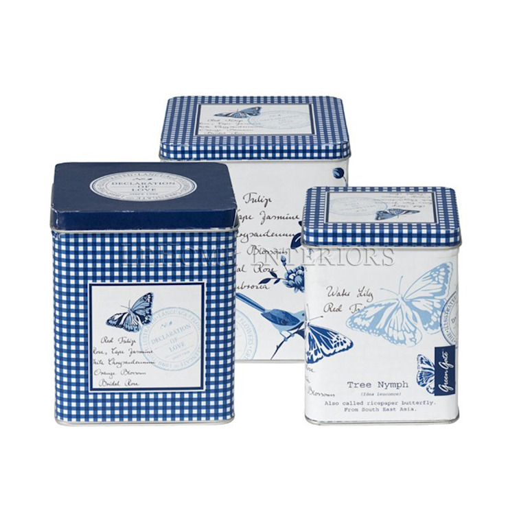 Коробка (набор из 3 шт) GreenGate Penelope Blue G155 от LeHome Interiors Классический Металл