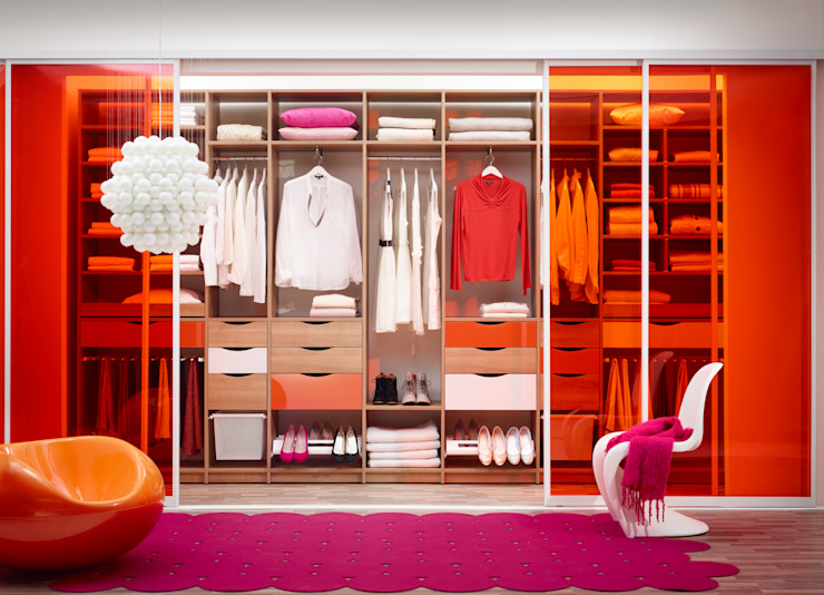 Elfa Deutschland GmbH Dressing roomWardrobes & drawers Komposit Kayu-Plastik Orange