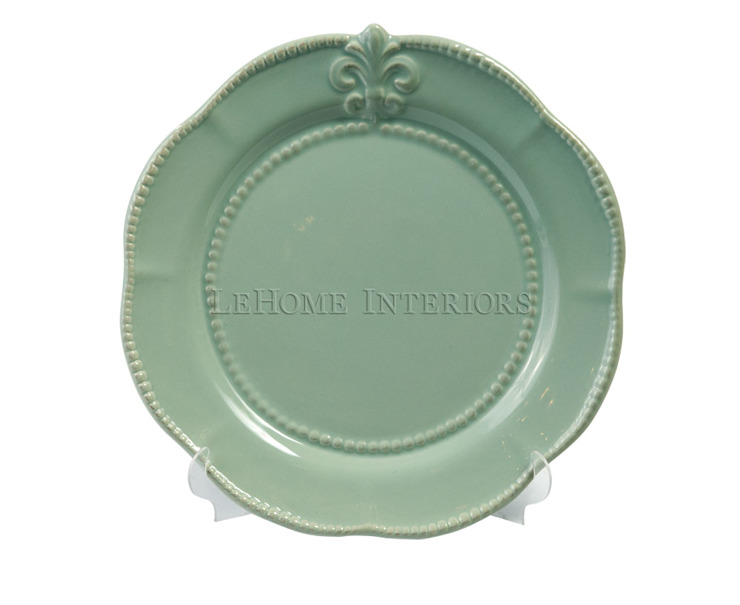 Тарелка (флер-де-лис) V352 от LeHome Interiors Классический Керамика