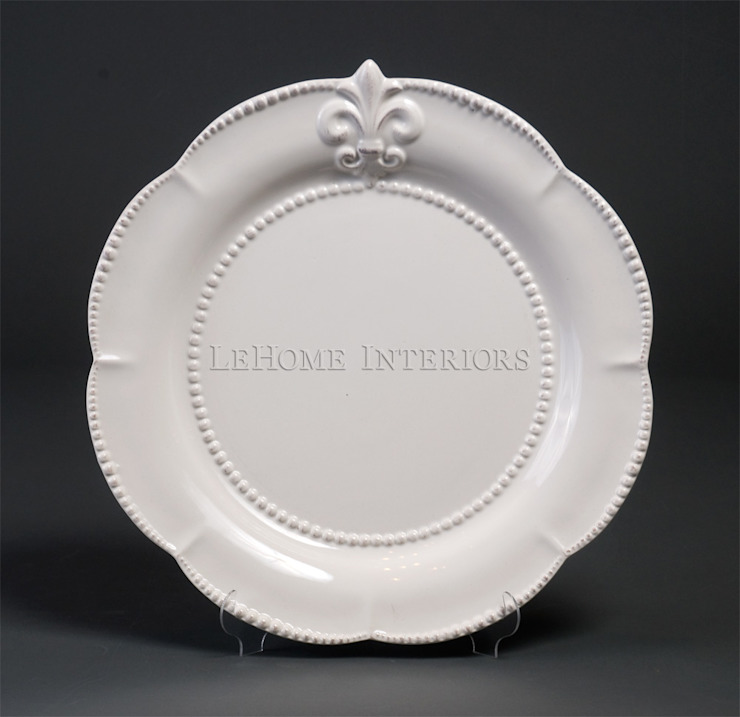 Тарелка (флер-де-лис) V354 от LeHome Interiors Классический Керамика
