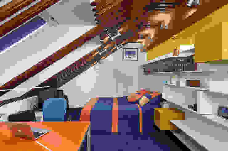 ДОМ В СЯРЬГАХ, 315 М2 Спальня в стиле модерн от Юдин и Новиков Дизайн-студия Модерн