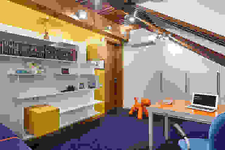 ДОМ В СЯРЬГАХ, 315 М2 Детская комната в стиле модерн от Юдин и Новиков Дизайн-студия Модерн