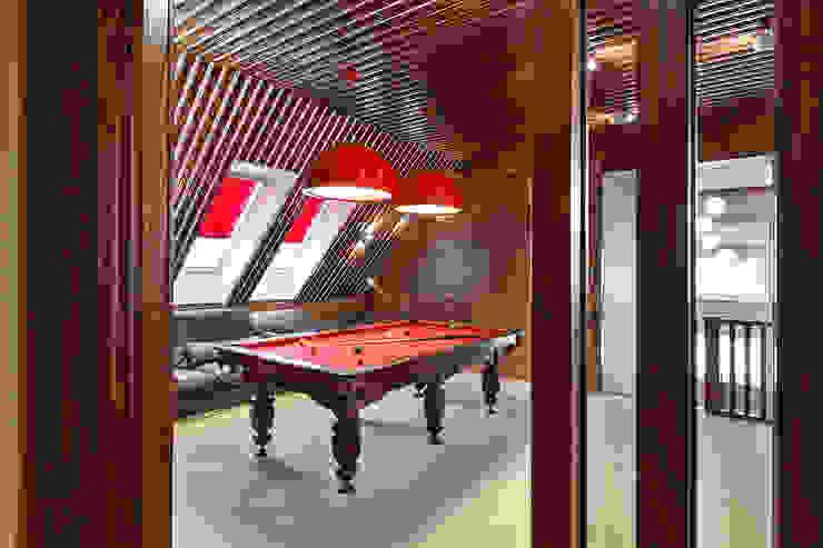 ДОМ В СЯРЬГАХ, 315 М2 Медиа комната в стиле модерн от Юдин и Новиков Дизайн-студия Модерн