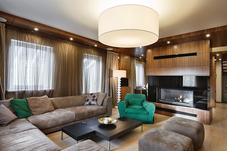 Modern Living Room by Юдин и Новиков Дизайн-студия Modern