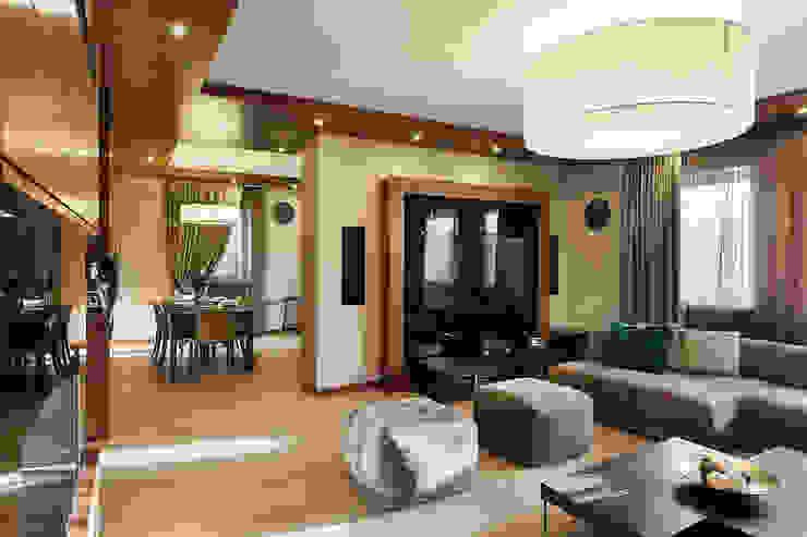 Salones de estilo moderno de Юдин и Новиков Дизайн-студия Moderno