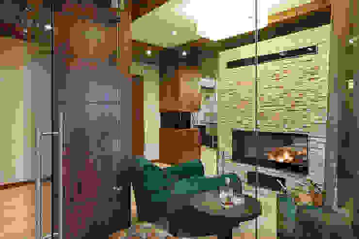 ДОМ В СЯРЬГАХ, 315 М2 Гостиная в стиле модерн от Юдин и Новиков Дизайн-студия Модерн