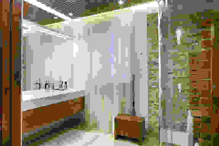 ДОМ В СЯРЬГАХ, 315 М2 Ванная комната в стиле модерн от Юдин и Новиков Дизайн-студия Модерн