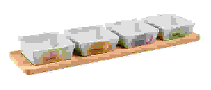 Мисочки на подносе (набор из 4-х штук) V1173 от LeHome Interiors Классический Керамика