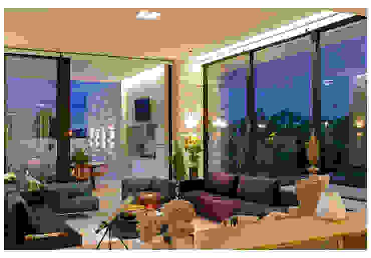 Casa Bulcão Salas de estar modernas por ANDRÉ BRANDÃO + MÁRCIA VARIZO arquitetura e interiores Moderno