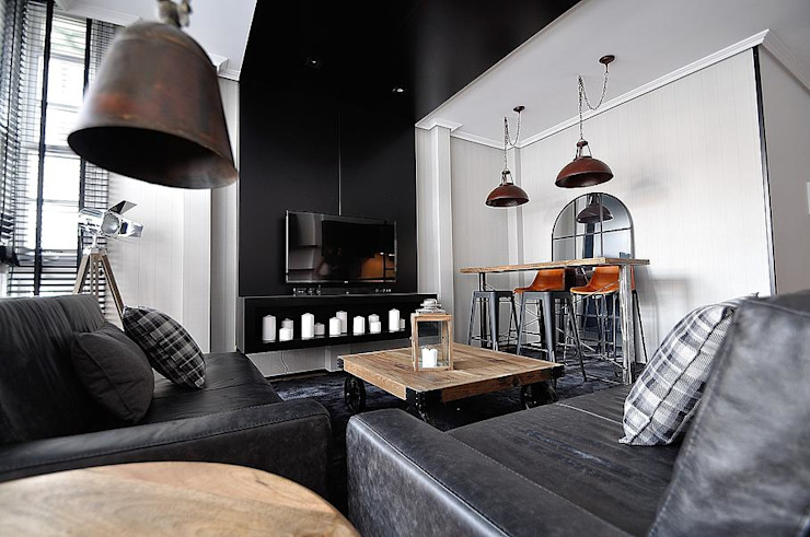 apartamento industrial Comedores de estilo industrial de MIDO DECORACIÓN Industrial