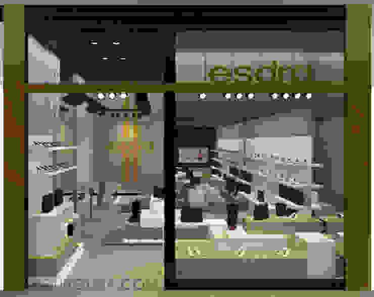 Fachada Loja Esdra Design Lojas & Imóveis comerciais modernos por Caroline Vargas | C. Arquitetura Moderno Cobre/Bronze/Latão