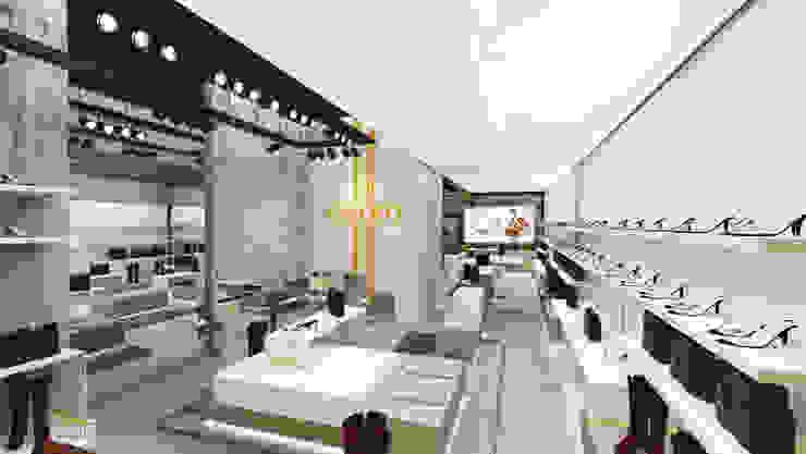 Mobiliário Comercial Lojas & Imóveis comerciais modernos por Caroline Vargas | C. Arquitetura Moderno MDF