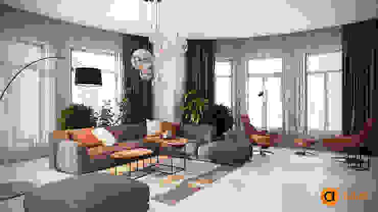 Гостиная с камином Гардеробная в скандинавском стиле от Artichok Design Скандинавский Дерево Эффект древесины