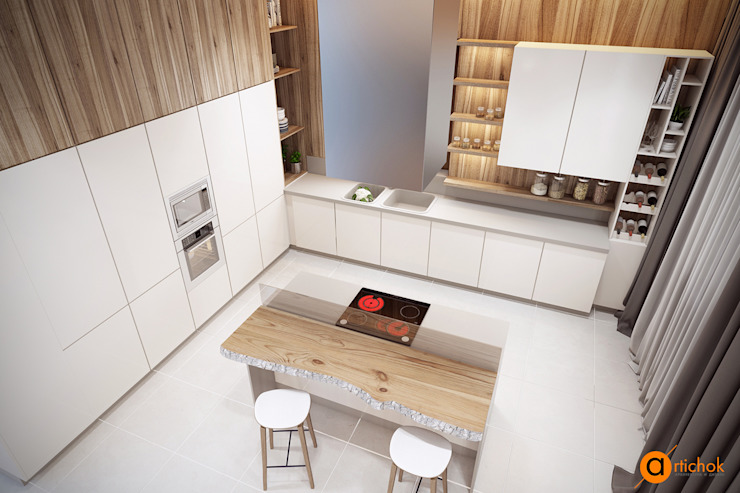 Scandinavian style kitchen by Artichok Design Scandinavian Wood Wood effect