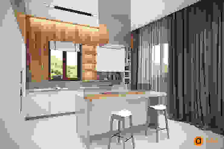 Загородный дом <q>Natürliche</q> Кухня в скандинавском стиле от Artichok Design Скандинавский Дерево Эффект древесины