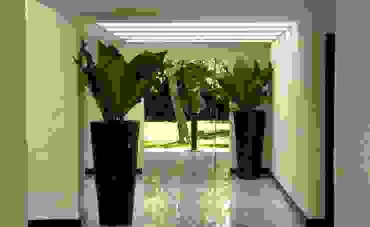 Corporativo Pasillos, vestíbulos y escaleras modernos de Olivia Aldrete Haas Moderno