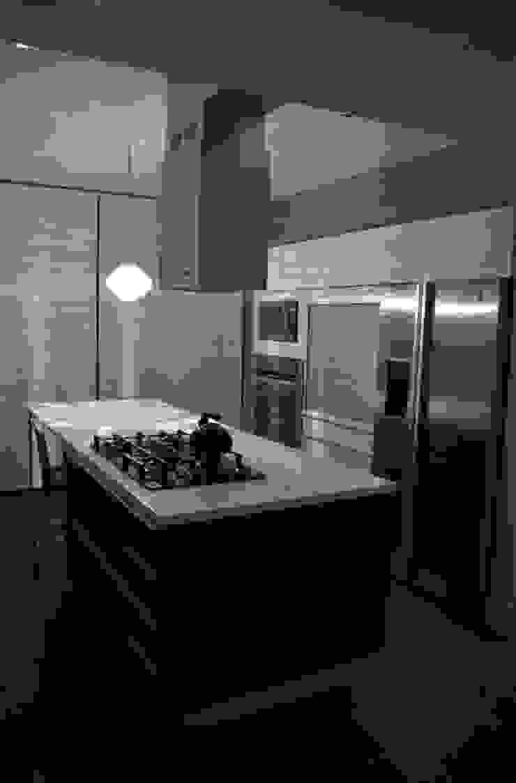 CASA TG Cocinas modernas de planeta diseño + construcción SA de CV Moderno