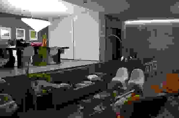 Salas de estilo  por planeta diseño + construcción SA de CV, Moderno
