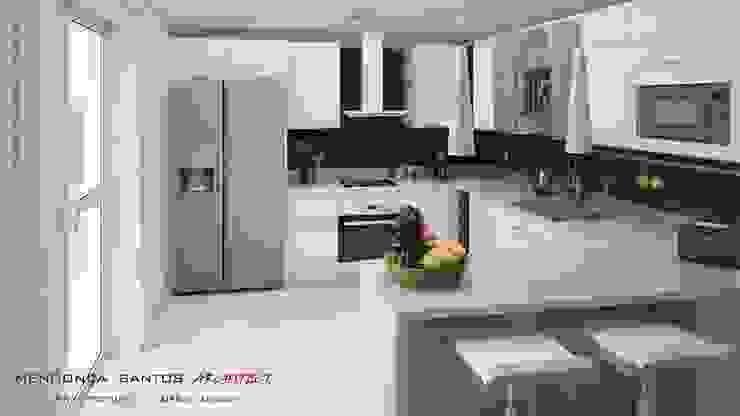 Mendonça Santos Arquitetos & Associados Modern kitchen
