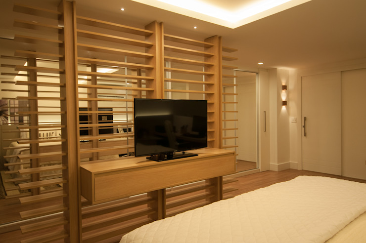 Apartamento Lago Norte Quartos modernos por Carpaneda & Nasr Moderno