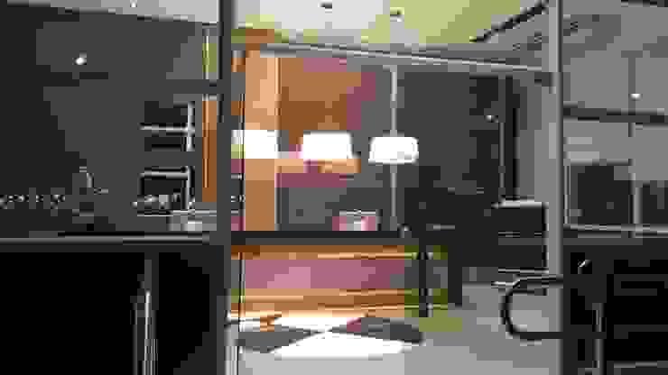 Projeto corporativo sóbrio e elegante por Lucio Nocito Arquitetura Escritórios industriais por Lucio Nocito Arquitetura e Design de Interiores Industrial