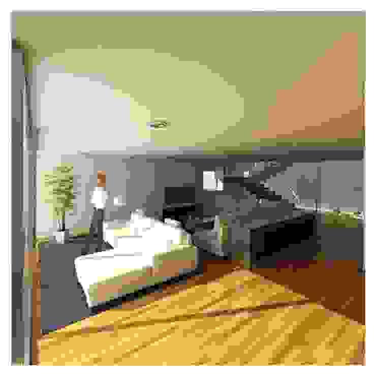 Projeto de Restauro e Ampliação Salas de estar modernas por Mendonça Santos Arquitetos & Associados Moderno