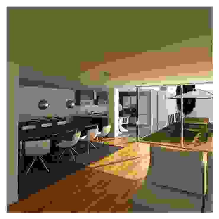 Projeto de Restauro e Ampliação Salas de jantar modernas por Mendonça Santos Arquitetos & Associados Moderno