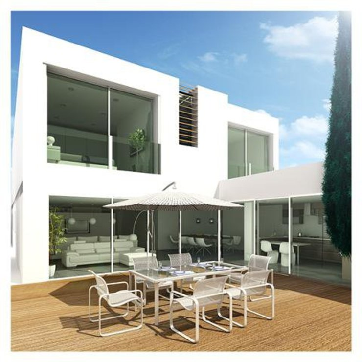 Projeto de Restauro e Ampliação Casas modernas por Mendonça Santos Arquitetos & Associados Moderno