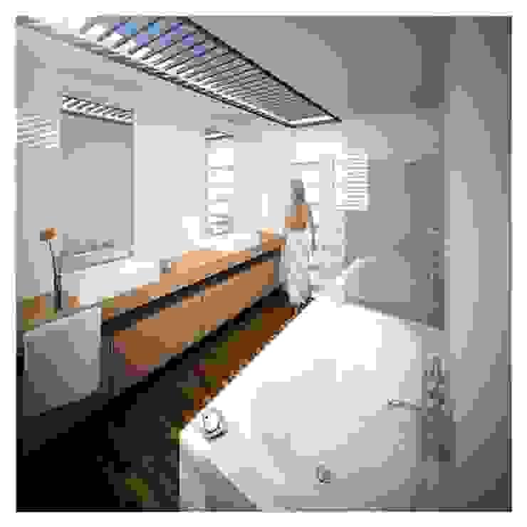 Projeto de Restauro e Ampliação Casas de banho modernas por Mendonça Santos Arquitetos & Associados Moderno