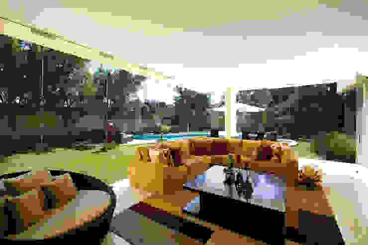 Residencia Guadalajara: Salas de estilo  por Olivia Aldrete Haas, Moderno