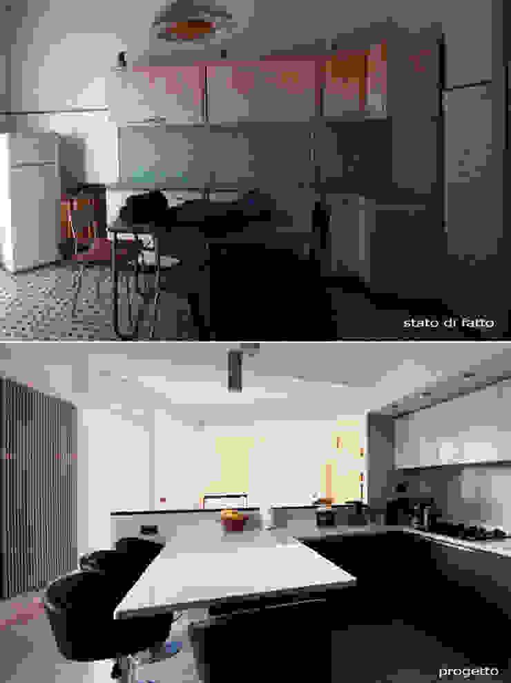 CASA D&F Cucina moderna di Andrea Orioli Moderno