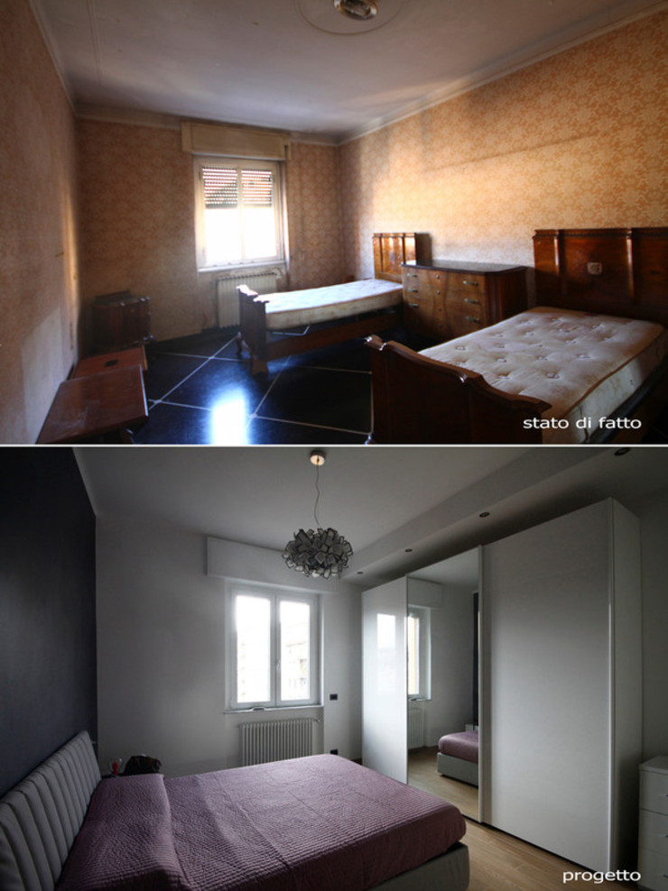 CASA D&F Camera da letto moderna di Andrea Orioli Moderno