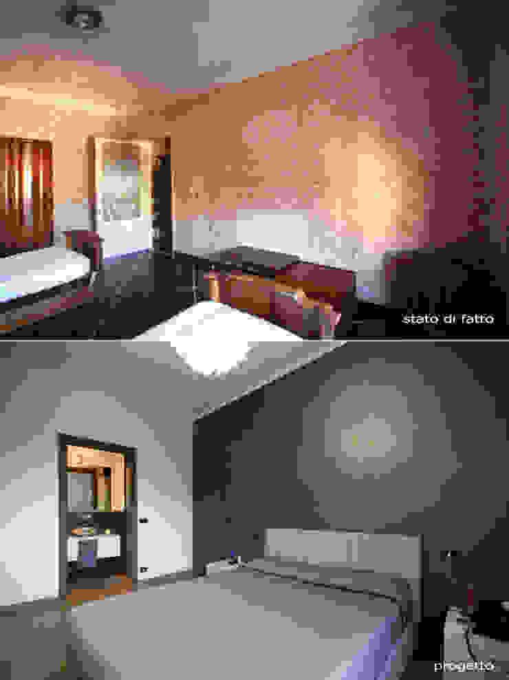 Nowoczesna sypialnia od Andrea Orioli Nowoczesny