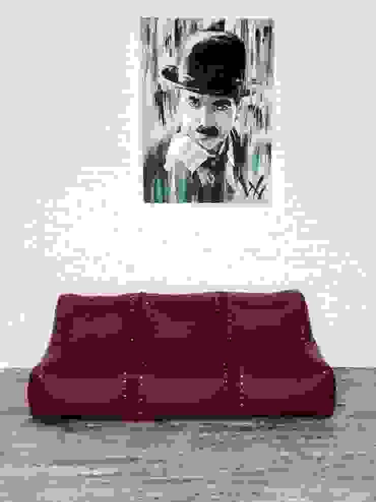 Бескаркасный модульный диван Авиатор #89 от Мешок в Дом Лофт Искусственная кожа Металлический / Серебристый