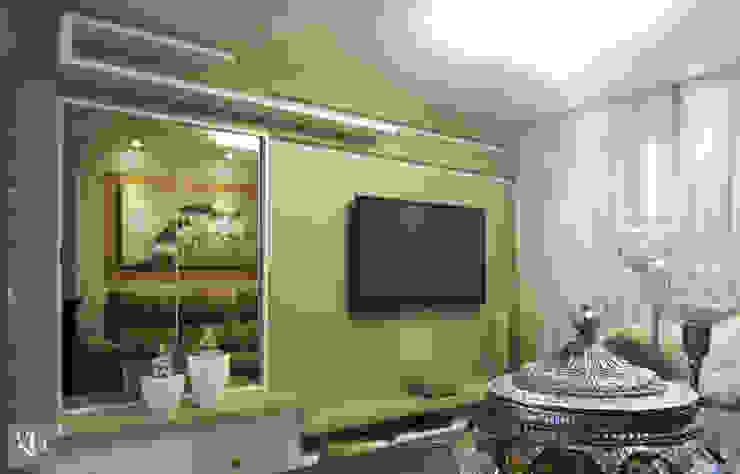 Sala multimídia Salas multimídia modernas por Gustavo Bodini   Designer de Interiores Moderno