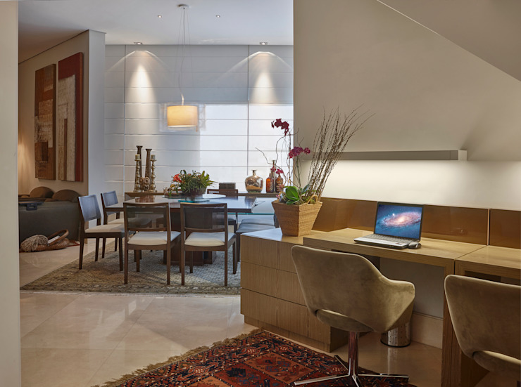 Isabela Canaan Arquitetos e Associados Modern Study Room and Home Office
