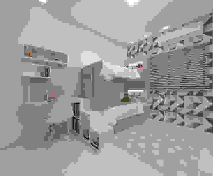 Dormitório Meninos Quarto infantil industrial por Karoline Gesser Leal Interiores Industrial