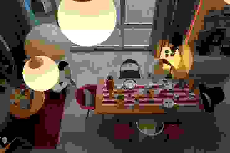 Natal: Sala de jantar  por Entre Led e Design,